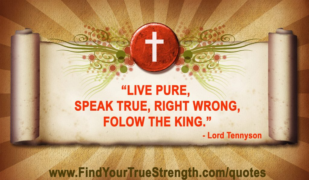 Lord Tennyson quote about real men